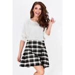 Černo-bílá sukně A87 S