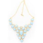 Světle modrý náhrdelník Cache