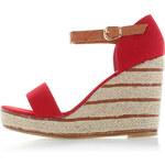 Červené platformové sandály Antrasid EUR40