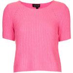 Topshop Short Sleeve Ribbed Knit