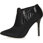 Topshop GRIPPED Pointed Shoe Boots