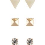 Accessorize Set aus 3 geometrischen Ohrsteckern