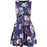 Fialové šaty s barevnými květinami Closet