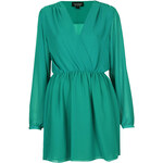 Topshop Chiffon Wrap Dress