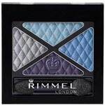 Rimmel London Glam Eyes Quad Eye Shadow 4,2g Oční stíny W - Odstín 003 Smokey Purple