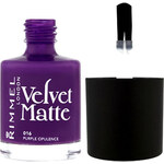 Rimmel London Velvet Matte Nail Polish 12ml Lak na nehty W - Odstín 015 Midnight Kiss