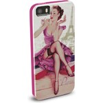 Pouzdro / kryt pro Apple iPhone 5 / 5S / SE - CellularLine, Vintage Paris - VÝPRODEJ