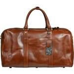 Giostra Hnědá cestovní taška do ruky Egisto Marrone