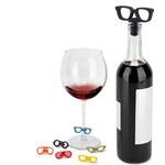 Uzávěr a rozlišovače na víno GLASSES Umbra