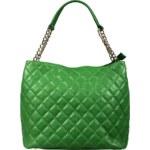 Alice & D elegantní zelená kožená kabelka Emma Verde