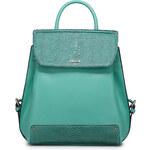 Lusuxní dámská kožený batůžek Nucelle zelený
