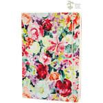 LONDON STATIONERY Barevný zápisník s motivem květin A5