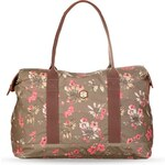 Dámská cestovní kabelka s květinovým vzorem Nica šedá