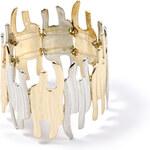 Silvering and Gilding Metal Bracelet
