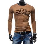 Hoody Pánské tričko - hnědá Velikost: XXL