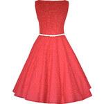 MiaBella SUSAN retro šaty červené s mini puntíkem Barva jako na obrázku, 38