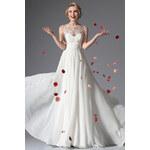 Dovoz Dlouhé svatební retro šaty bez rukávů jako na obrázku, 38