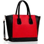 LS fashion LS dámská kabelka TOTE 90A černo-červená