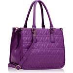 LS fashion LS dámská prošívaná kabelka 215A fialová