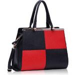 LS fashion LS dámská kabelka 197 černo-červená