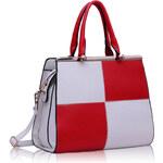 LS fashion LS dámská kabelka 197 bílo-červená