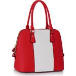 LS fashion LS dámská kabelka 242 bílo-červená