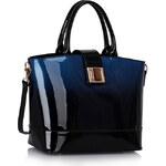 LS fashion LS dámská kabelka 329 lakovaná tmavě modrá