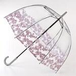 Průhledný deštník fulton BIRDCAGE-2 - FLORET BORDER