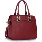 LS fashion LS dámská elegantní kabelka 334 bordó