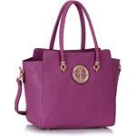 LS fashion LS dámská kabelka s broží 149 fialová