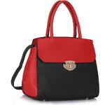 LS fashion LS dámská kabelka 275 černo-červená