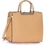 LS fashion LS dámská kabelka se zlatými úchyty 260A nude
