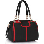 LS fashion LS dámská kabelka 278 černo-červená