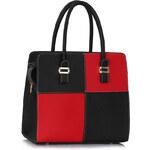 LS fashion LS dámská kabelka quatro 289 černo-červená