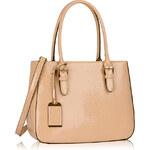 LS fashion LS dámská lakovaná kabelka HAD 176A nude
