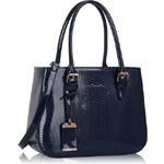LS fashion LS dámská lakovaná kabelka HAD 176A tmavě modrá