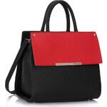 LS fashion LS dámská kabelka 230B černo-červená