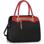 LS fashion LS dámská kabelka 247B se zipem černo-červená