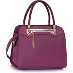 LS fashion LS dámská kabelka 247B se zipem fialová