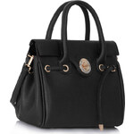 LS fashion LS dámská velká kabelka 301M černá