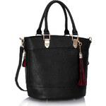 LS fashion LS dámská kabelka 321 střapec černá