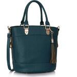 LS fashion LS dámská kabelka 321 střapec tmavě modrá