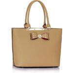 LS fashion LS dámská kabelka s mašlí 326 nude