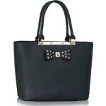 LS fashion LS dámská kabelka s mašlí 326 tmavě modrá