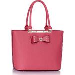 LS fashion LS dámská kabelka s mašlí 326 fuchsiově růžová