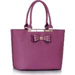 LS fashion LS dámská kabelka s mašlí 326 fialová