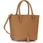 LS fashion LS dámská kabelka 315 zipper nude