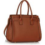 LS fashion LS dámská kabelka 325 s držadly hnědá