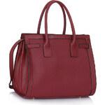 LS fashion LS dámská kabelka 325 s držadly bordó