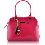 LS fashion LS dámská kabelka lakovaná 6001 růžová